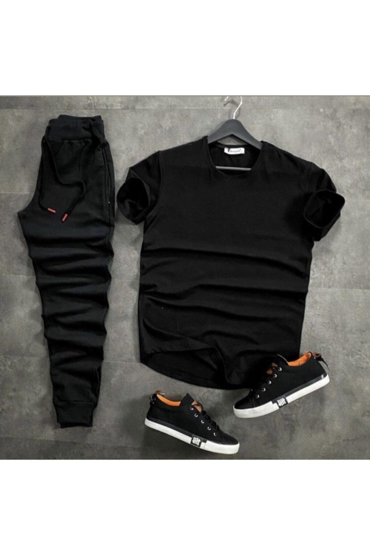 Düz Basic Tshirt Eşofman Takım
