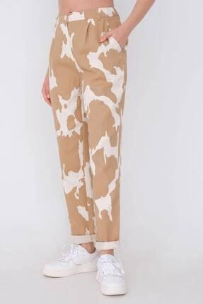 Addax Kadın Kahverengi Desenli Pantolon Pn03-0062 - 3