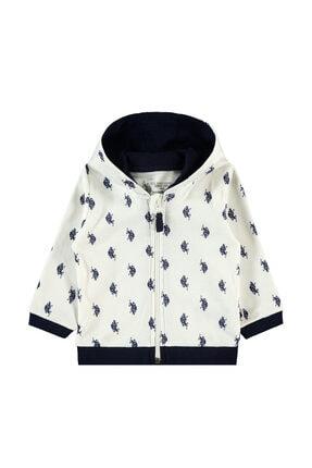 US Polo Assn Unisex Bebek Bej Krem Sweatshirt 0