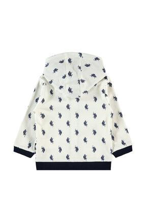 US Polo Assn Unisex Bebek Bej Krem Sweatshirt 1
