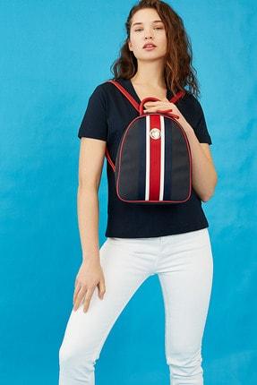 US Polo Assn Lacıvert-kırmızı Kadın Sırt Çantası Us8221 0