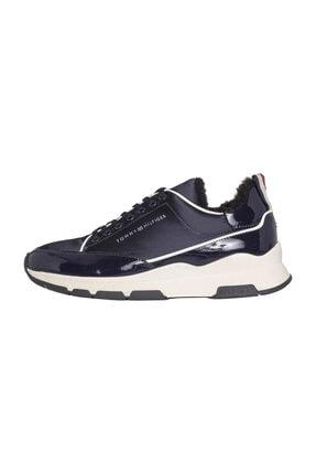 Tommy Hilfiger Kadın Cool Technical Satın Sneaker 0