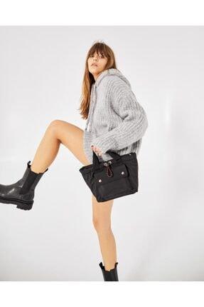 Shule Bags Kabartmalı Puf Kumaş Çapraz Çanta Palermo Siyah 4