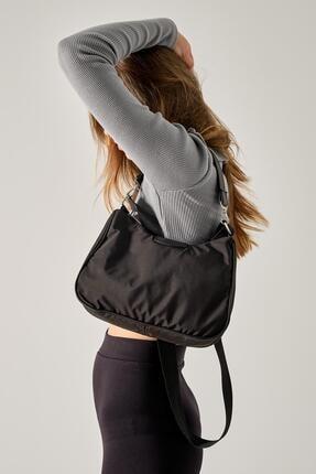 Shule Bags Kadın Siyah Katrine Paraşüt Kumaş Kol Çantası 0
