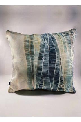 BENLİSSO Home Collection & Textile Kırlent Kılıfı 45x45 Özel Tasarım (SU YEŞİLİ) 0