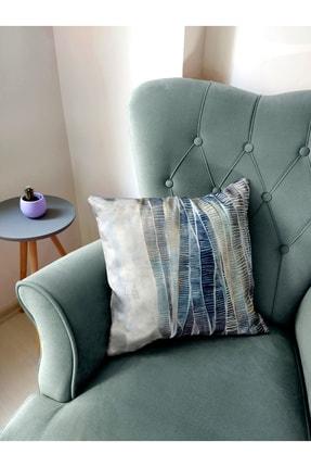 BENLİSSO Home Collection & Textile Kırlent Kılıfı 45x45 Özel Tasarım (SU YEŞİLİ) 2