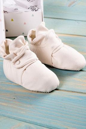 Ella Bonna Organik Pamuk Bebek Patiği, Kaydırmaz Taban, Pamuklu Yenidoğan Pandufu Ev Kreş Ayakkabısı 3