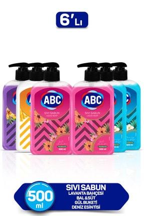 ABC Karma Sıvı Sabun Seti 1x Bal-Süt + 1x Lavanta + 2 x Deniz + 2 x gül 0