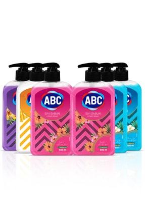 ABC Karma Sıvı Sabun Seti 1x Bal-Süt + 1x Lavanta + 2 x Deniz + 2 x gül 1