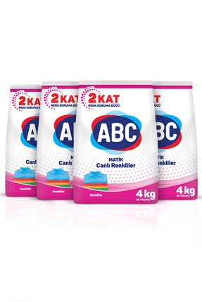 ABC Matik Canlı Renkliler 4 Kg 4'lü Set 1