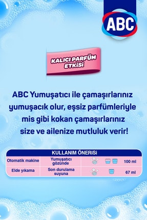 ABC Sıvı Çamaşır Yumuşatıcı Deterjan Gül Tutkusu 5 litre x 4 Adet 2