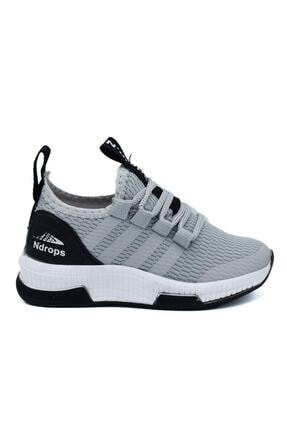 N Drops Unisex Çocuk Gri Spor Ayakkabı 0