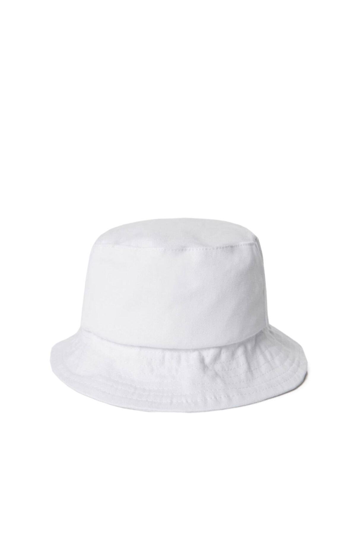 Unisex Beyaz Balıkçı Bucket Şapka Gc013901