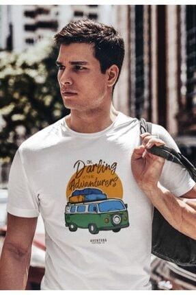 Aventura Clothing Co %100 Pamuk, Regular Fit, Bisiklet Yaka, Baskılı Tshirt - Good Vibes Only 4 0