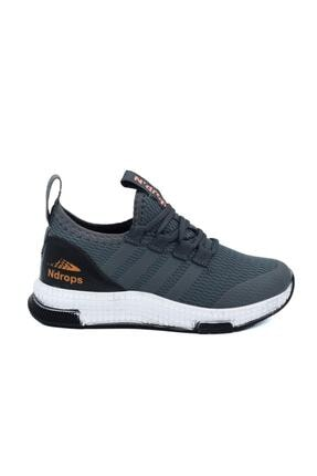 N Drops Unisex Çocuk Gri Spor Ayakkabı Gri 0