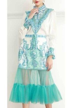 Kadın Su Yeşili Elbise 165