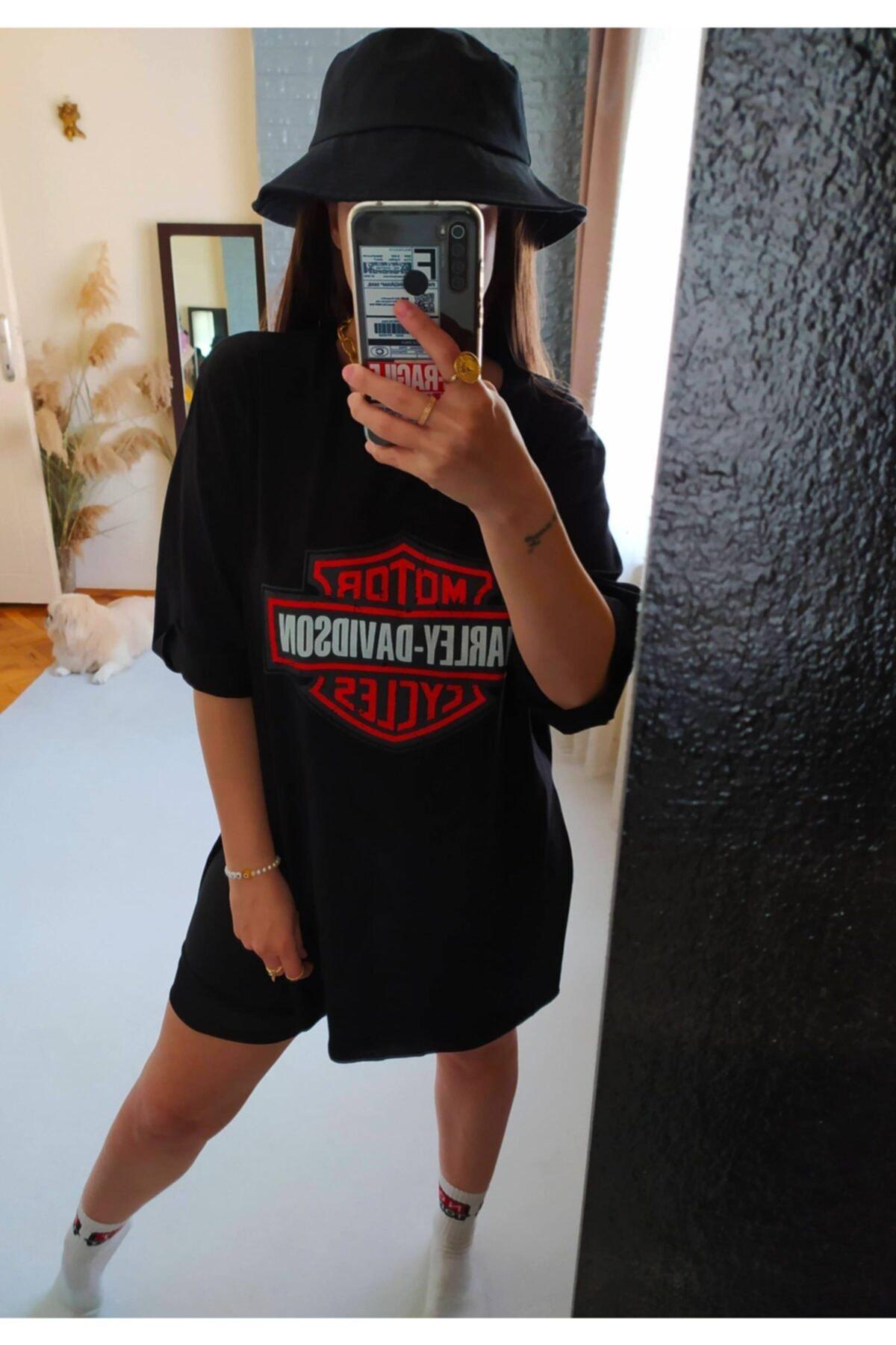 Girlboss Butik Baskılı, Duble Kol, Oversize Tshirt