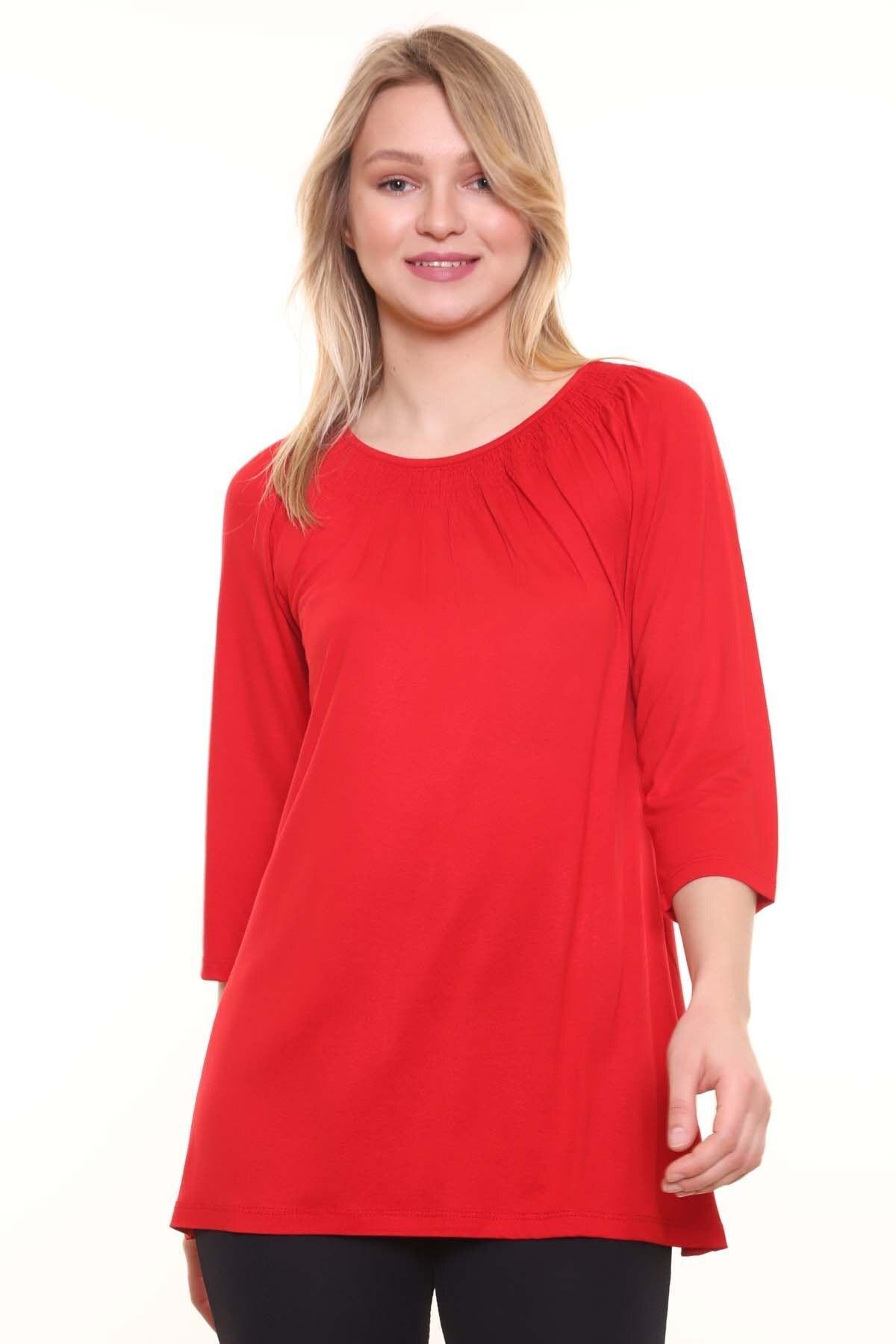Kadın Kırmızı Mari Gipe Bluz