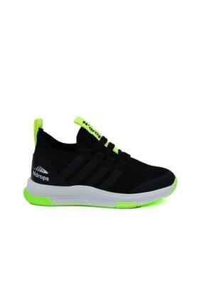 N Drops Unisex Çocuk Siyah Sarı Spor Ayakkabı 0