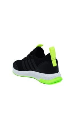 N Drops Unisex Çocuk Siyah Sarı Spor Ayakkabı 2