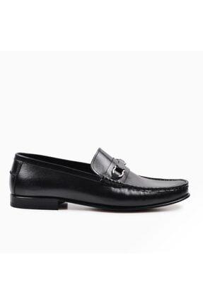 Erkek Siyah Hakiki Deri Kösele Ayakkabı ZZP-0000000012265633
