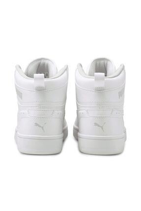 Puma Unisex Beyaz Rebound Joy Jr Basket Ayakkabısı 4