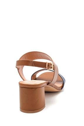 Derimod Kadın Kahverengi Topuklu Sandalet 3