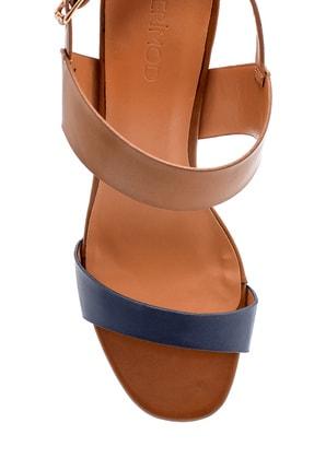 Derimod Kadın Kahverengi Topuklu Sandalet 4