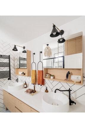 Home Modern Siyah Metal Havluluk 3