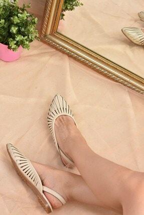 Fox Shoes Kadın Bej Babet K294850109 2