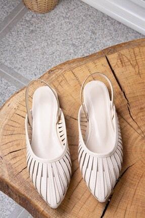 Fox Shoes Kadın Bej Babet K294850109 4
