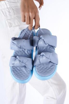 modalmila Kadın Çift Taban Lastikli Sandalet 0