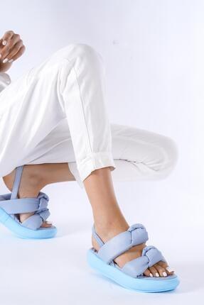 modalmila Kadın Çift Taban Lastikli Sandalet 1