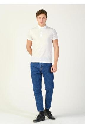 Erkek Beyaz Desenli Polo Yaka T-shirt resmi