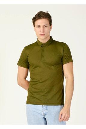 Erkek Haki Polo Yaka T-shirt resmi