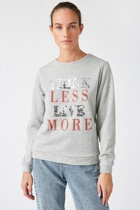 Koton Kadın Gümüş Sweatshirt 1KAK13624EK 2
