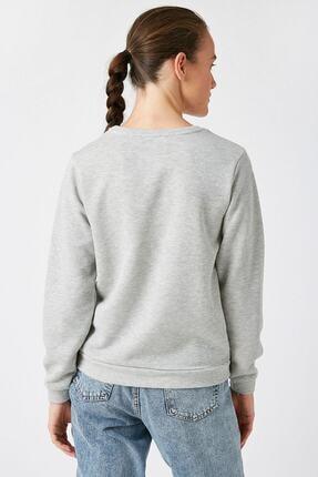 Koton Kadın Gümüş Sweatshirt 1KAK13624EK 3