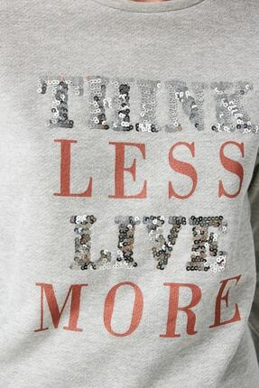 Koton Kadın Gümüş Sweatshirt 1KAK13624EK 4