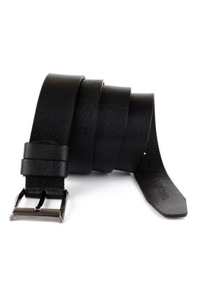 LUGMO 2 Adet Hakiki Deri Erkek Kemer 4 Cm Siyah Kahverengi Kumaş Ve Kot Uyumlu Faturalı 2