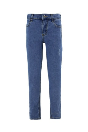 Defacto Erkek Çocuk Slim Fit Yıpratma Detaylı Jean Pantolon 0