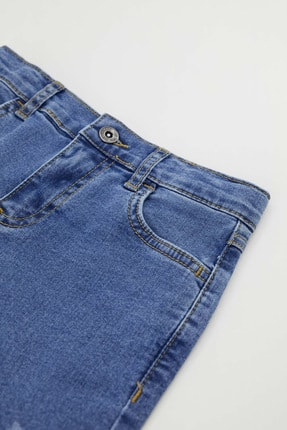 Defacto Erkek Çocuk Slim Fit Yıpratma Detaylı Jean Pantolon 2