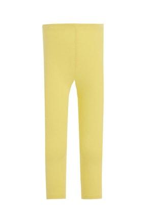 Defacto Kız Çocuk Sarı Slim Fit Kapri Boy Tayt 0