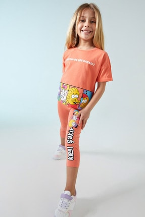 Defacto Kız Çocuk Pembe Kral Şakir Lisanslı Tayt 0