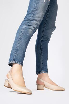 CZ London Kadın Lastikli Sandalet Açık Kısa Topuklu Ayakkabı 0