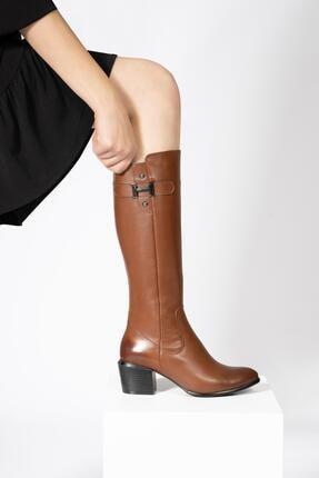 CZ London Kadın Fermuarlı Çizme Tokalı Kışlık Ayakkabı 3