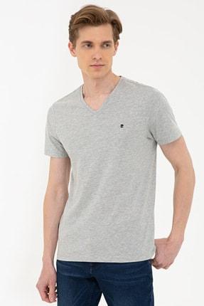 Picture of Acık Grı Melanj Erkek T-Shirt G021GL011.000.1287111