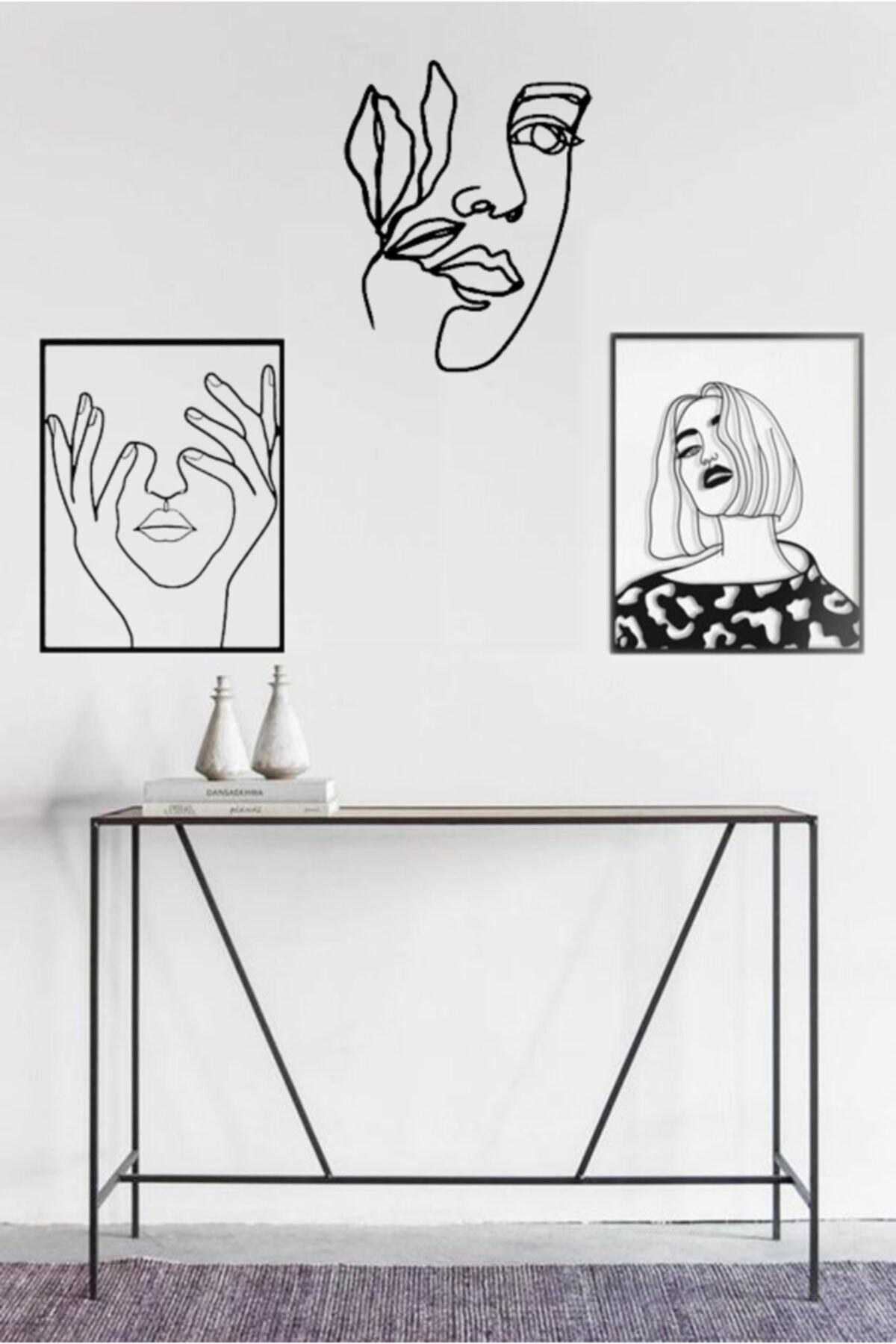 Muhteşem Üçlü Kadın Dekoratif Ahşap Tablo 2