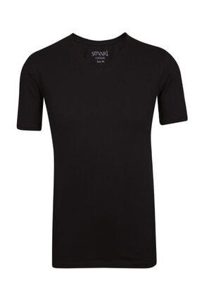 SÜVARİ Dar Kalıp V Yaka Likralı T-shirt 2'li 1