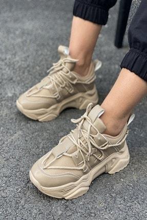İnan Ayakkabı Kadın Bağcık Detaylı Sneaker 0