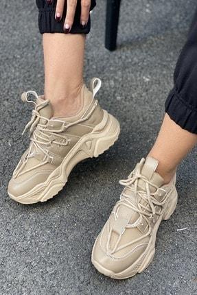İnan Ayakkabı Kadın Bağcık Detaylı Sneaker 1